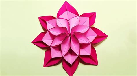 Different Origami - unique flower in origami style 3 modifications of paper