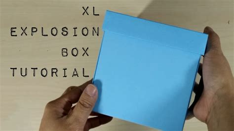 explosion box tutorial dailymotion diy template how to make an extra large explosion box