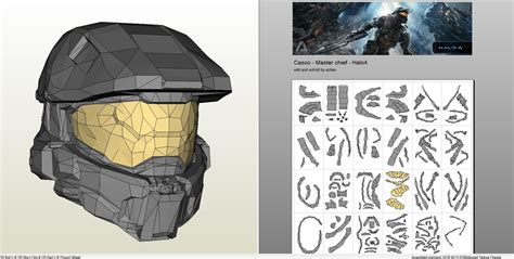 Master Chief Papercraft - papercraft pdo file template for halo 4 masterchief