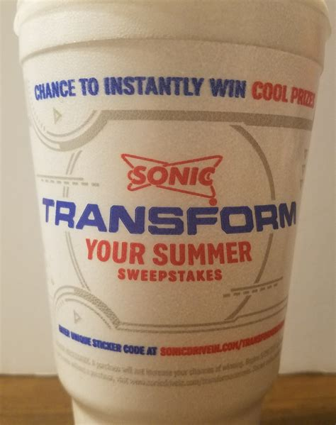 Sonic Transformers Sweepstakes - upcoming sonic drive in s transform your summer sweepstakes transformers news tfw2005