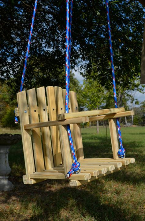 Kids Wooden Swing Backyard Outdoor Toys By Hiddencreekcrafts