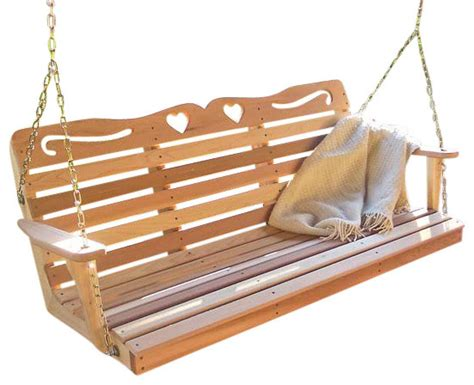 american swing products fifthroom red cedar american sweetheart porch swing