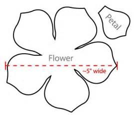 flower template 5 petals flower petal template search stuff to print