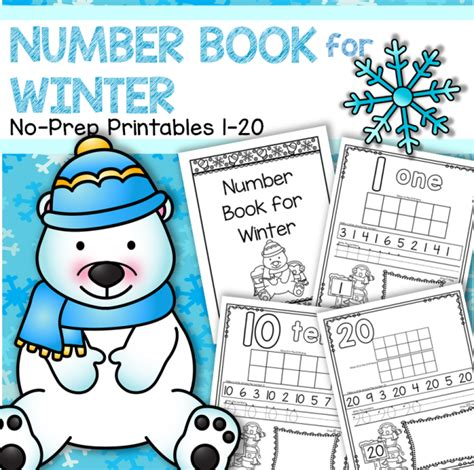 27 winters and counting books number counting book for winter 1 20 no prep printables
