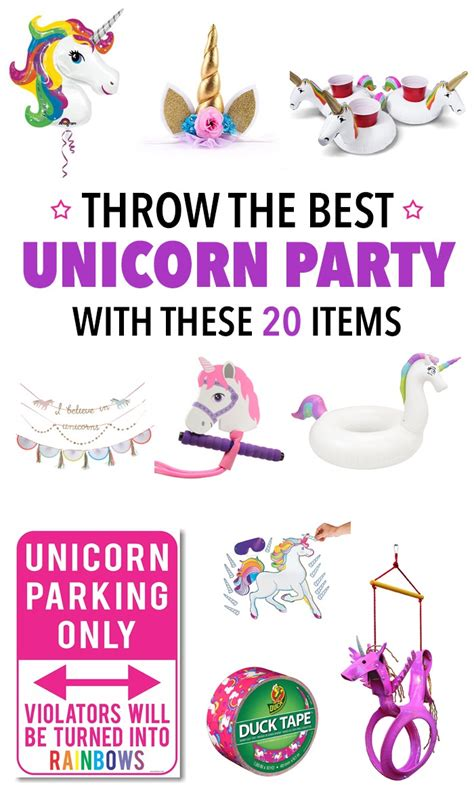 Amazon Home Decor throw the best unicorn party ever with these 20 things