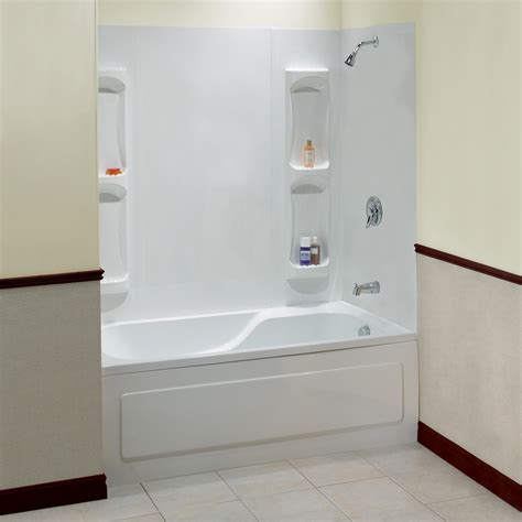 one piece bathtub enclosures utah maax 174 walls