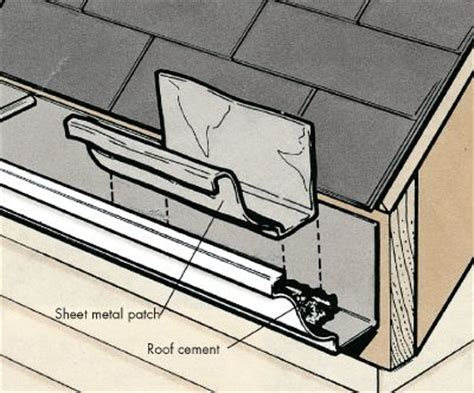 how to repair a leaky gutter a dyi gutter repair diy diy do it your self