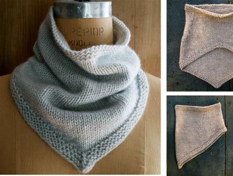 Knitting Bandana simple knitted bandana cowl free knitting pattern