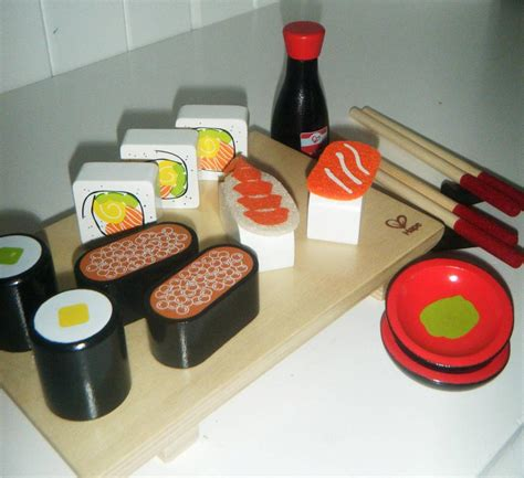 Japanese Kitchen Cooking Set Bn Wooden Cooking Baking Sushi Set Pretend Play Food