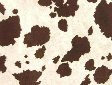 Faux Cowhide Fabric For Upholstery Brown White Rustic