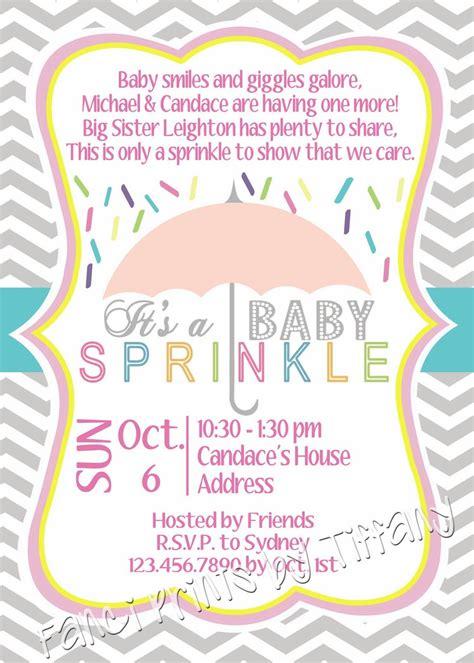 fanci prints by baby sprinkle invitation