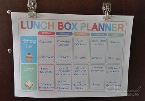 free printable easy 5 day lunchbox planner lunch box planning food for lunch boxes is just as important as