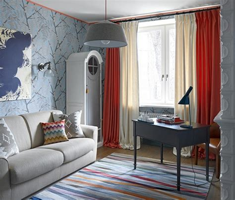 living room red curtains 16 interior designs from moscow apartment messagenote
