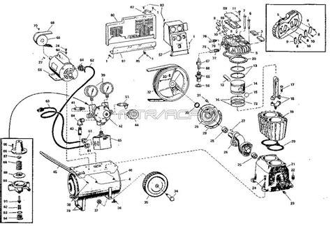 craftsman air compressor parts diagram sears craftsman 106 152581 air compressor parts
