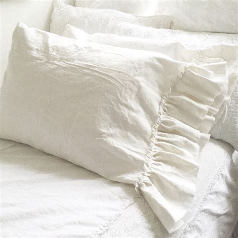 washed linen bedding washed linen ruffle bedding hallstrom home