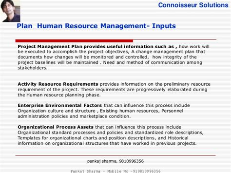 human resource management plan template pmbok project management plan template gantt