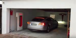 Tesla Replica This Tesla Owner Put A Supercharger In His Own Garage