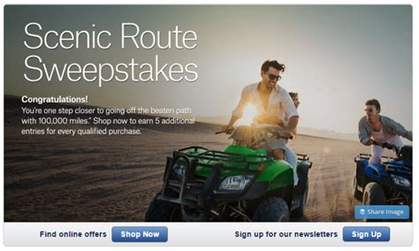 Sweepstakes Route - shopping portal promotion alaska airlines scenic route sweepstakes tagging miles