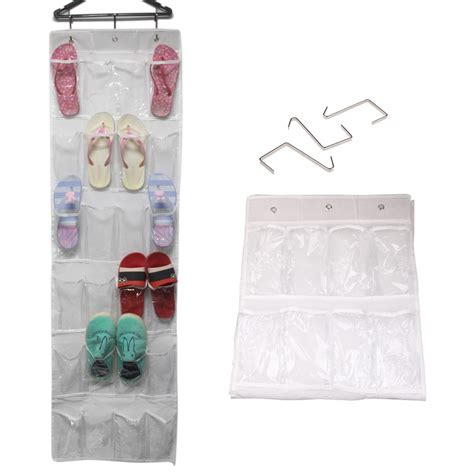 door hanging shoe rack 24 pocket over the door hanging holder shoe organizer rack