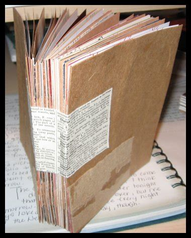 How To Make A Journal Out Of Paper - mixed media journal mixed media journal i made
