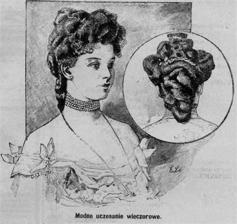 womens 1904 hairstyles modna fryzura wieczorowa wrzesień 1904 fashionable