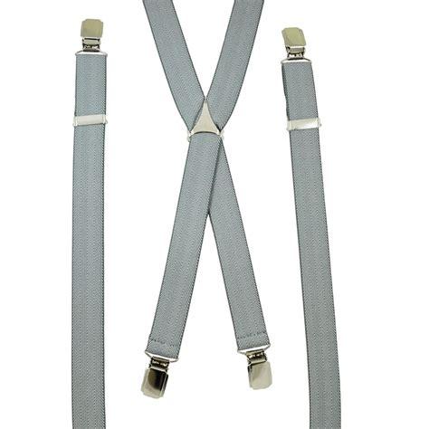 light grey skinny tie light grey white patterned skinny trouser braces from