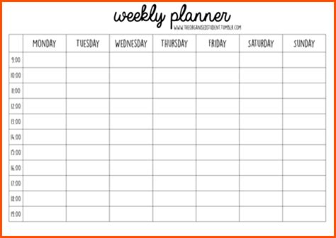 weekly planner template word anuvrat info
