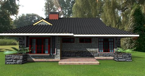 4 bedroomed house plans 3bedroom bungalow plans by kenyan architect