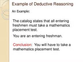 Deductive Essay Exle by Deductive Reasoning Examples Alisen Berde