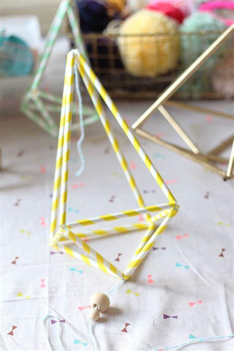 Comment Fabriquer Des Himmeli by Diy Himmeli En Pailles De Papier