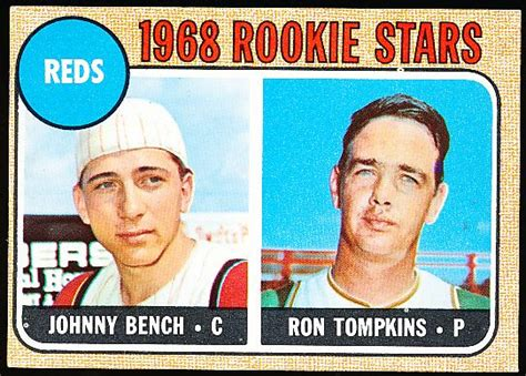 what number was johnny bench lot detail 1968 topps bb 247 johnny bench rc
