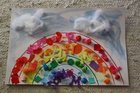 collage crafts for rainbow collage family crafts