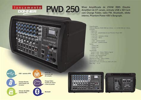 250 watt cl l cabe 231 ote multiuso mesa som amplificada pwd250 250 watts