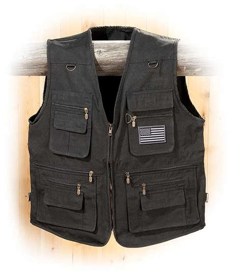 black concealment concealed carry black canvas vest s for