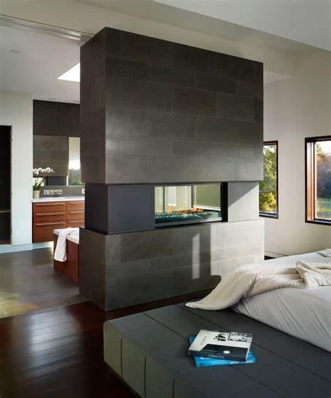 Floating Vanity Plans fireplace between room bedroom contemporary with