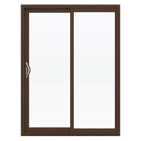 Jeld Wen Patio Door Hardware Jeld Wen 60 In X 80 In V 2500 Series Vinyl Sliding Low E Glass Patio Door Thdjw181500156 The