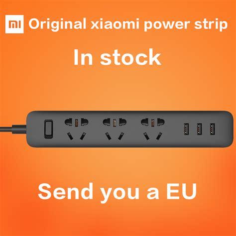 Xiaomi Mi Smart Power 6 Socket 3 Usb Port newest 100 original xiaomi mi smart power outlet socket 3 usb extension socket with