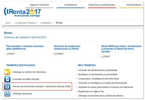 cmo modificar el borrador de la renta 2016 c 243 mo modificar borrador o declaraci 243 n mediante renta web