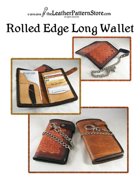pattern for long leather wallet rolled edge long wallet pattern for leather leathercraft pdf