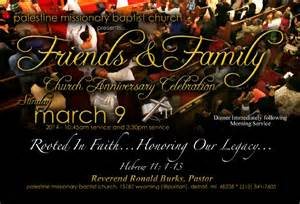 Family and friend day flyer at church