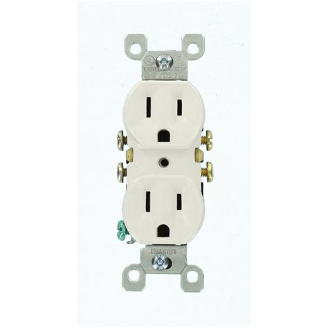 leviton 15 duplex outlet white 10 pack m24 05320