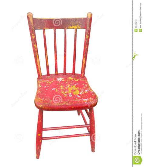 painted wooden chairs wooden chair isolated stock photos image 34425213
