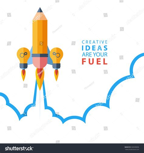 ideas image creative ideas your fuel flat design stock vector