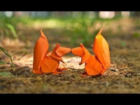 3d origami squirrel tutorial origami squirrel by stephan weber yakomoga origami