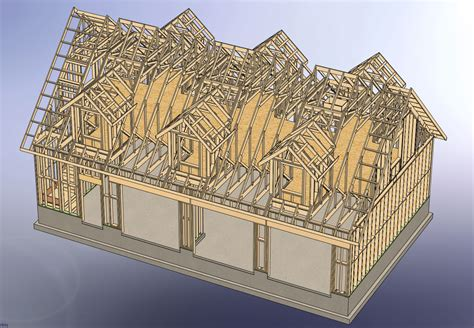Garages With Apartments On Top by 48x28 Garage With Attic And Six Dormers