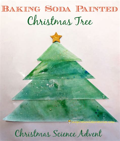 soda in christmas tree water science advent calendar baking soda painted tree inspiration laboratories
