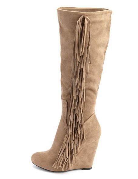 suede knee high boots with fringe ℋot ℋℯℯℓş