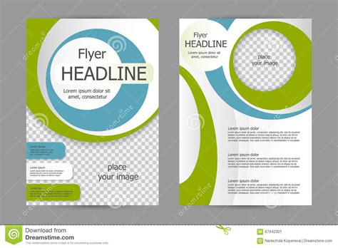 Vector Flyer Template Design Stock I With Vector School Flat Design Flyer Templates Stock V Flyer Templates Vector