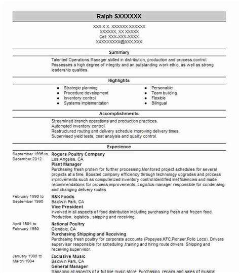 Plant Manager Description by Production Manager Description Roles Responsibilities 2 To Events Management Team