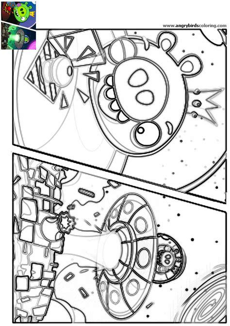 free coloring pages of angry birds in space